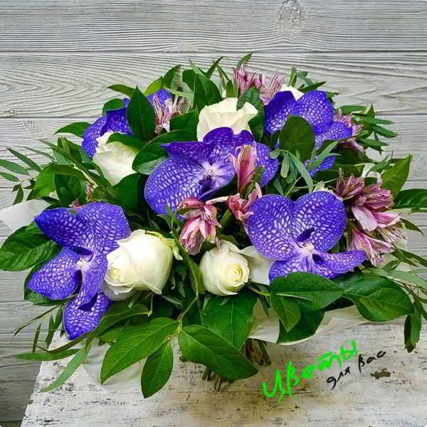 Состав: букет орхидей