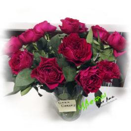 Состав: Английская роза алого цвета 1 шт.