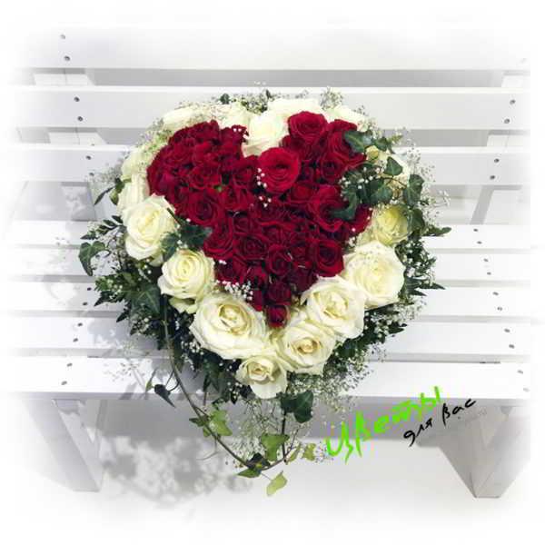 Состав: белая роза 21шт