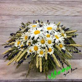 Состав: букет ромашек на каркасе: ромашки садовые